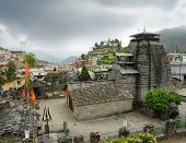 image of trident  - Ancient temple of Lord Shiva and rarity trident in the Gopeshwar town in Himalaya - JPG