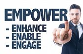 picture of empower  - Business man pointing the text - JPG