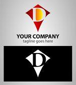 pic of letter d  - Letter D logo icon design template elements - JPG