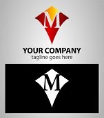 picture of letter m  - Abstract logo icon design template elements with letter M - JPG