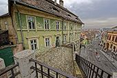 picture of sibiu  - Old building near the Lies bridge Sibiu Romania medieval architecture - JPG