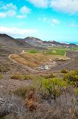 picture of cultivation  - View of Cultivated Field in the Canary Islands - JPG