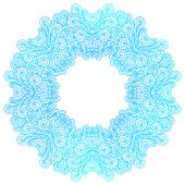foto of indian blue  - Blue round indian pattern vector illustration eps10 - JPG