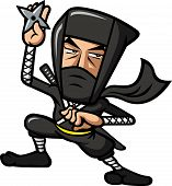 pic of ninja  - Ninja with a weapon wearing a black costume - JPG
