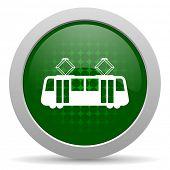 stock photo of tram  - tram icon public transport sign  - JPG