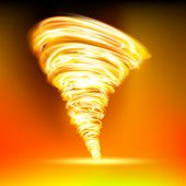 stock photo of hurricane wind  - tornado consisting of red flame - JPG