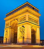 pic of charles de gaulle  - The Triumphal Arch on Place Charles de Gaulle in Paris France - JPG