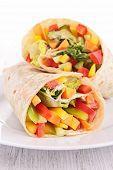 pic of sandwich wrap  - vegetable sandwich wrap - JPG
