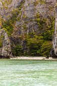 foto of phi phi  - a beautiful an secluded cove in the exotic phi phi tropical island Thailand - JPG