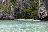 image of phi phi  - a beautiful an secluded cove in the exotic phi phi tropical island Thailand - JPG
