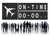 image of punctuality  - On Time Punctual Efficiency Organization Management Concept - JPG