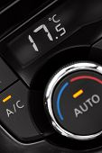 foto of air conditioning  - closeup of air conditioning panel inside a car - JPG