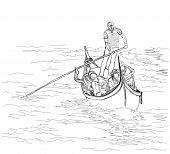 image of gondolier  - Venice - JPG