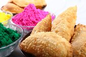 picture of holi  - gujia special dish for holi festival in india - JPG