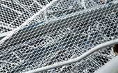 foto of landfills  - grid iron and ferrous material in the landfill of metallic objects - JPG