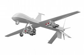 picture of predator  - Military Predator Drone isolated on white background - JPG