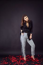 pic of v-day  - Woman in smart casual fashion look - JPG