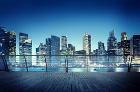 picture of reflections  - Cityscape Architecture Building Business Metropolis Reflection Concept - JPG