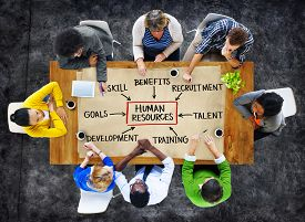 picture of unemployed people  - People and Human Resources Concept - JPG