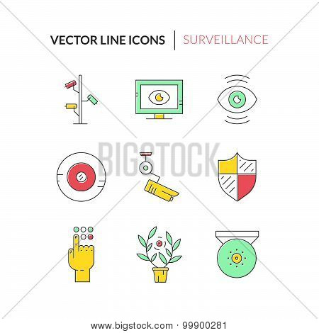 Colorful Surveillance Icons