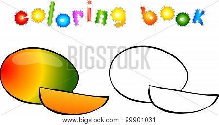 Cartoon Mango Coloring Book