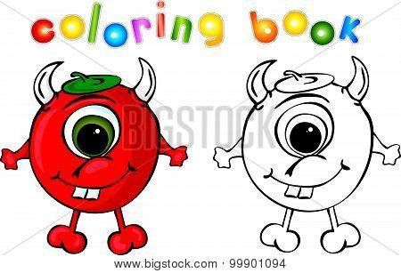 Coloring Book Devil