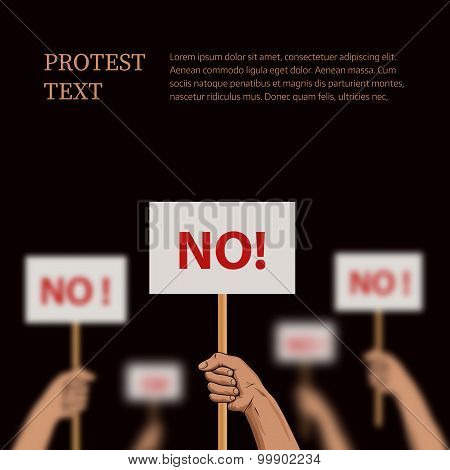 Vector Illustration On The Theme Protest, Disagreement