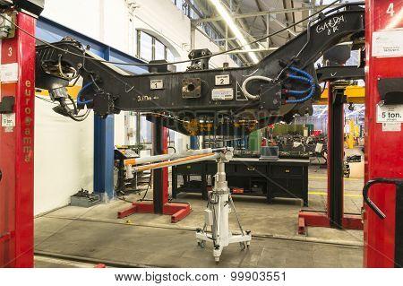 Rail Carts Test In A Workshop Major Repair.