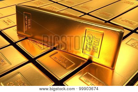 Gold Bars On Black Backgrounds