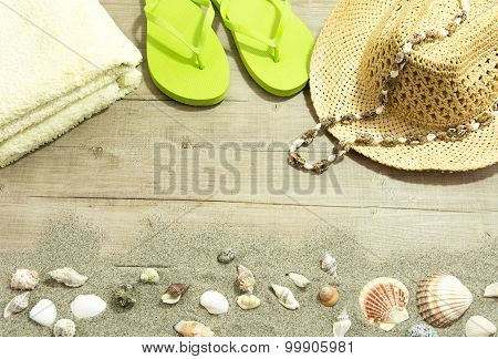 Back From The Beach Pistachio Flip Flop