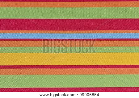 Rainbow Of Colors In A Fabric.