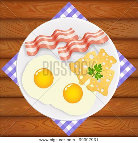 Breakfast Eggs Bacon Cheese