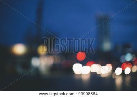 urban concept,lens blur