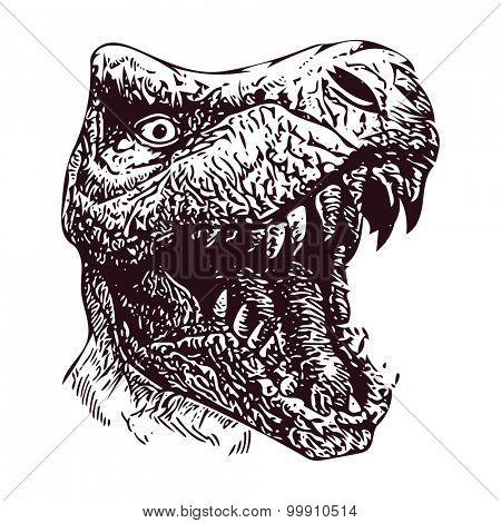 Dinosaur. Hand drawn. Vector illustration