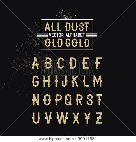 Modern Bold Vector Alphabet