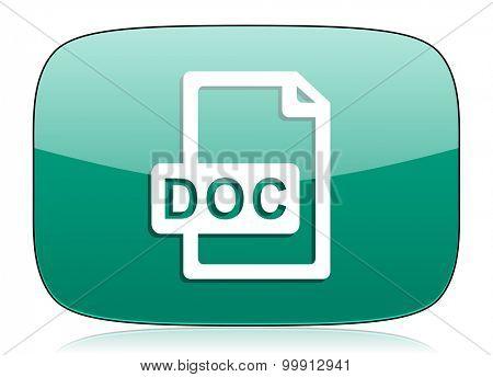 doc file green icon
