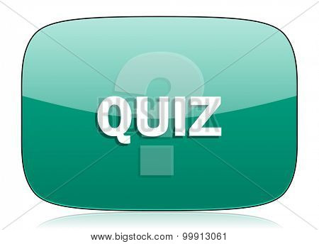 quiz green icon