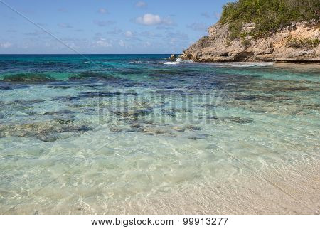 Caribbean beach in Guadeloupe