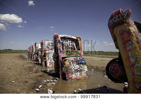Graffiti Covered Cars