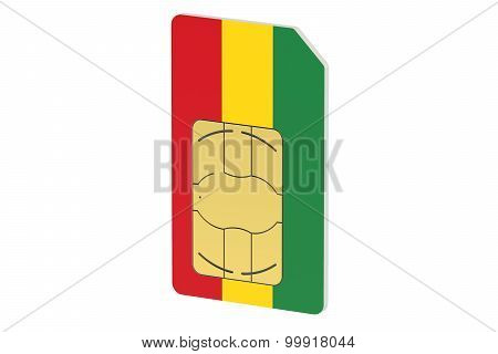 Sim Card With Flag Of Bulgaria