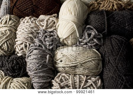 Messy Yarn In Neutral Colors