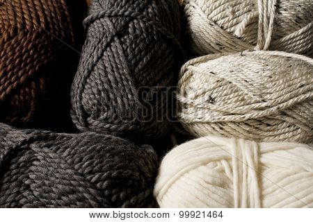 Neutral Colored Yarn Skeins