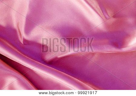 Pink  Silk Fabric Texture.