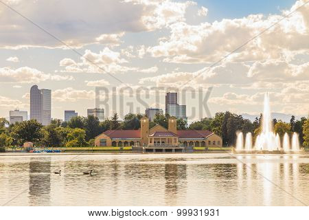 Scenic Of Denver Colorado Skyline