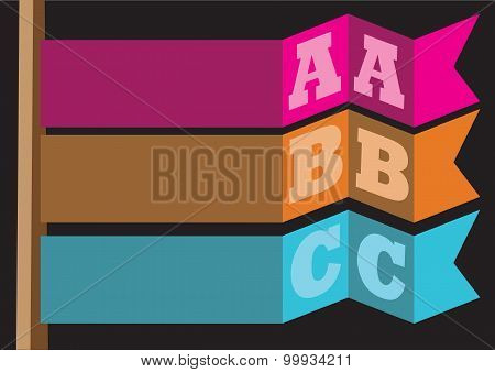 Abc Flag Abstract Vector Background Layout Design