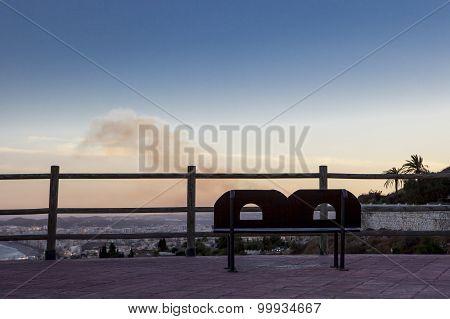 Costa Del Sol Bench At Dusk