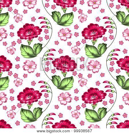 Seamless Floral Zhostovo Pattern