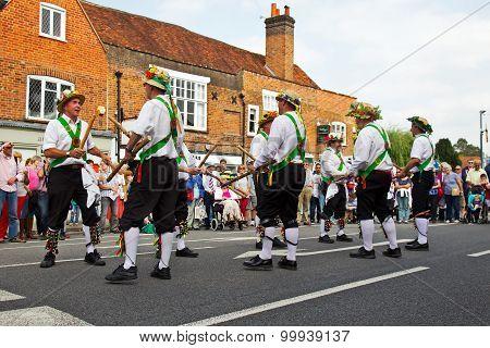 Male folk dancers