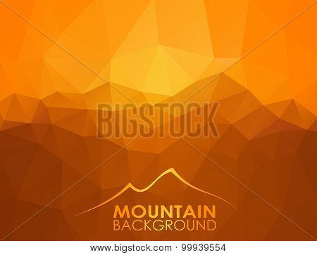 Triangle geometrical background with mountains