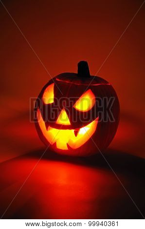 Scary face pumpkin.